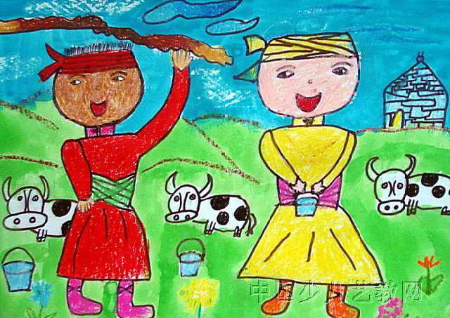爱我家乡儿童画图片