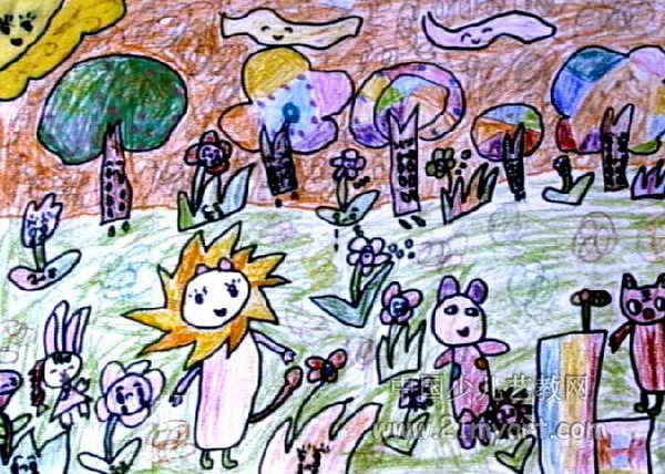 召开环保大会儿童画