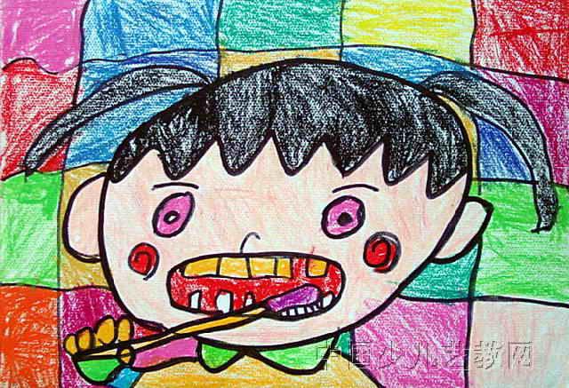 刷牙儿童画(二)8幅图片