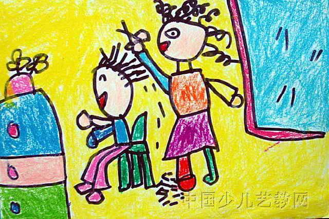 棒画大小为427x640像素,作者张子瑶,来自鄂尔多斯市东胜区第一幼儿园图片