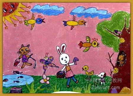 动物乐园儿童画15幅(第12张)
