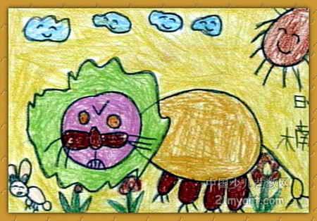 狮子儿童画(二)8幅(第5张)