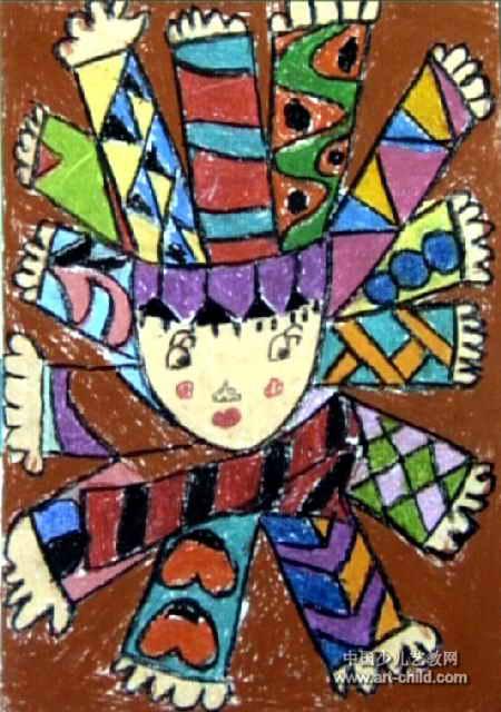 儿童油画棒简笔画_小手变变变儿童画作品欣赏