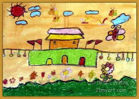 春天到了儿童画4幅