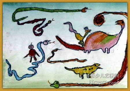动物世界儿童画10幅(第4张)