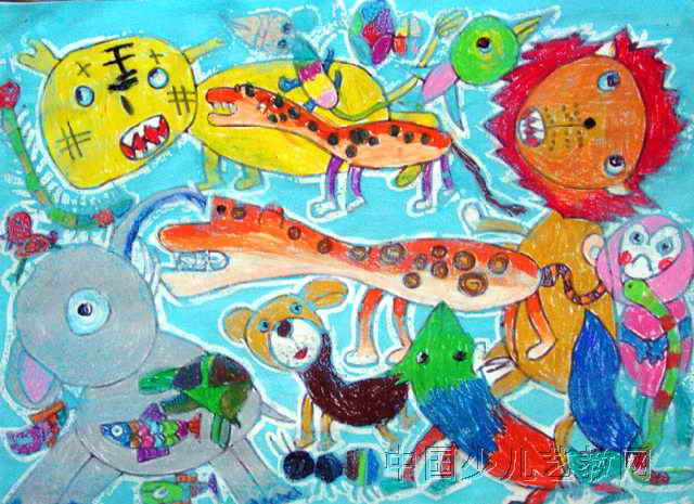 此幅油画棒画尺寸为465x640像素,作者王一帆,来自包钢第十五幼儿园,男图片