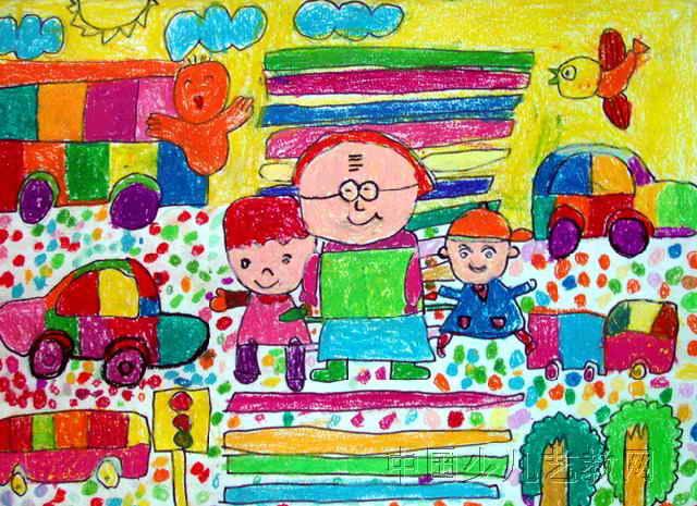 儿童油画棒作品 我的爸爸