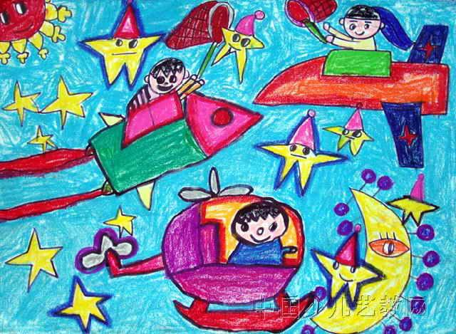宇宙儿童画2幅