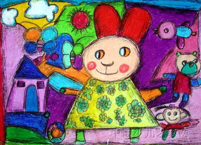 快乐的一天儿童画10幅(第4张)