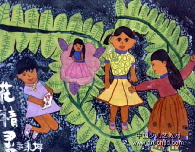 花精灵儿童画作品欣赏