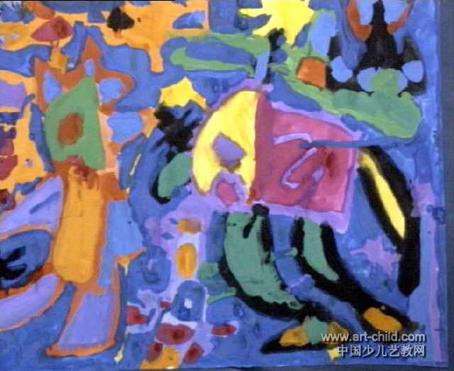 魔法世界儿童画作品欣赏