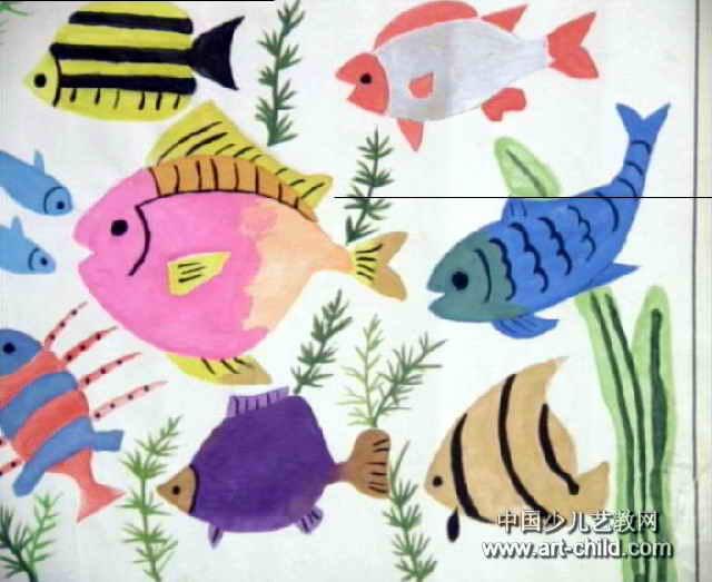 我爱海洋儿童画作品欣赏