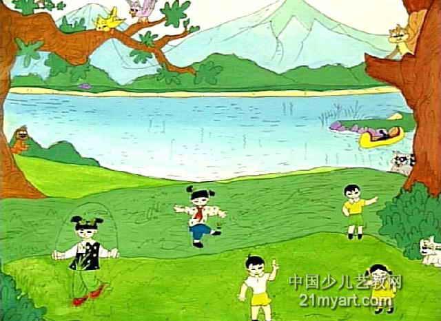 春之歌儿童画