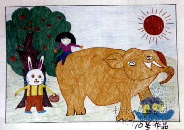 夏天的情趣儿童画作品欣赏情趣装备原版化