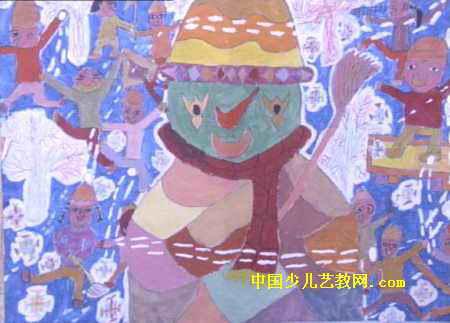下雪喽儿童画属于水粉画