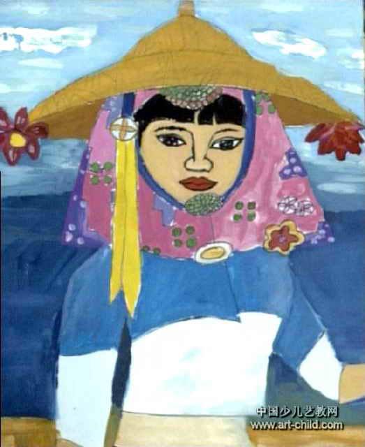 美丽的惠女儿童画作品欣赏