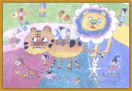 动物,我们的朋友儿童画