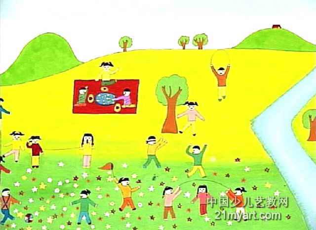 有意义的一天儿童画作品欣赏