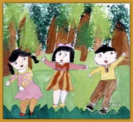 我爱大自然儿童画5幅(第4张)