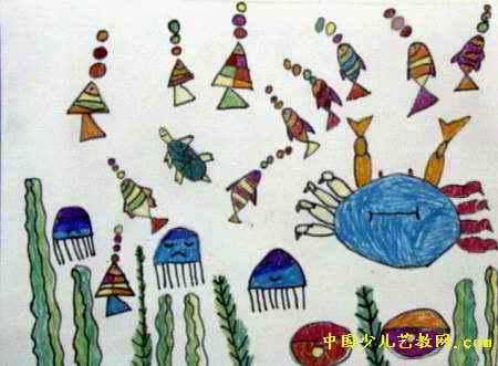 海底世界儿童画(四)8幅(第3张)