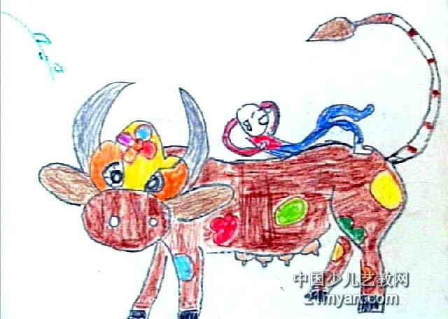 花花牛儿童画3幅(第2张)