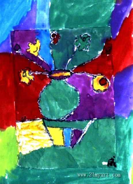 花瓶儿童画 一 8幅图片