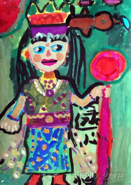 小公主儿童画3幅图片