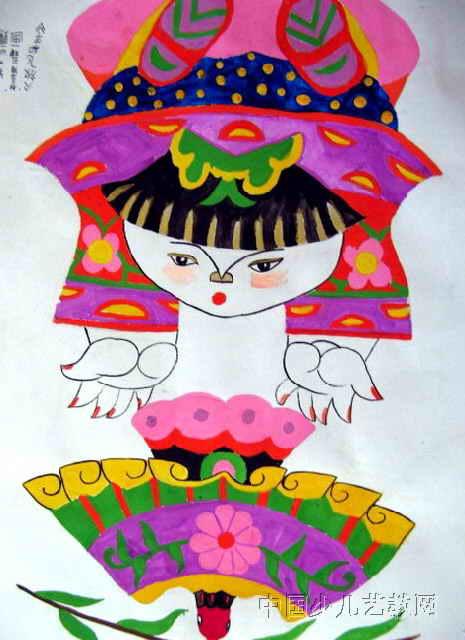放飞和平儿童画作品欣赏