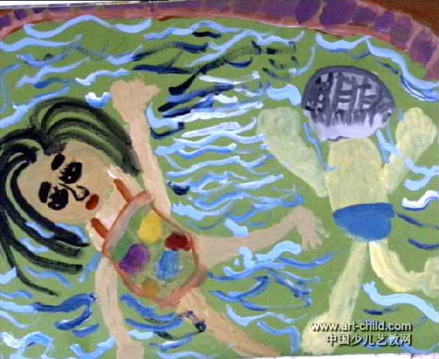 游泳儿童画11幅 第10张