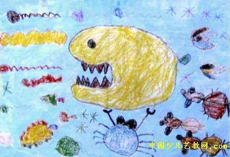 海底世界儿童画(二)8幅(第5张)