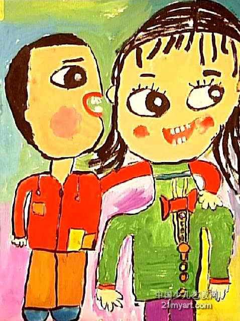 话儿童画作品欣赏
