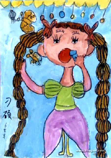 动物画儿童画作品欣赏