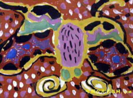 花蝴蝶儿童画4幅(第2张)