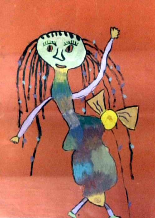 跳舞的人儿童画作品欣赏