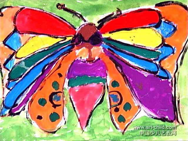 漂亮的蝴蝶儿童画图片