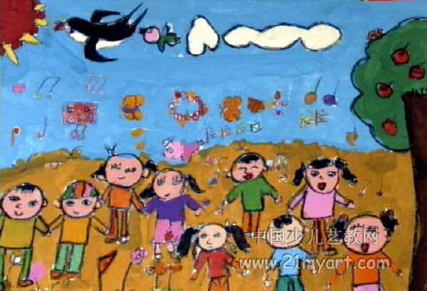 春天来了儿童画12幅(第10张)