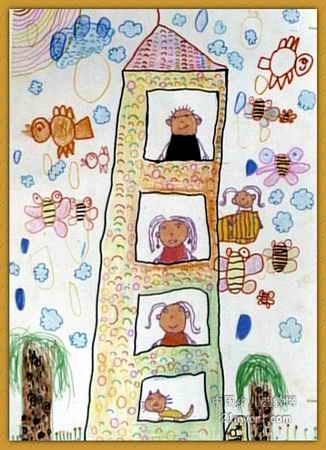我的家人儿童画