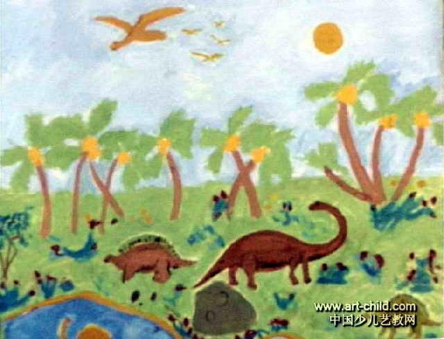 梦中的动物园儿童画作品欣赏排名吉林市龙潭区初中图片