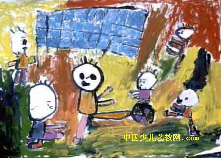 踢足球儿童画6幅