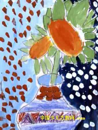 花瓶儿童画 一 8幅 第2张