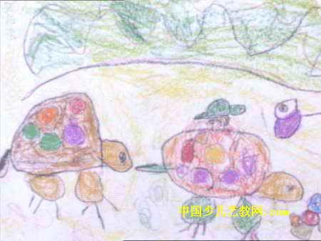 你好儿童画 地球娃娃儿童画作品欣