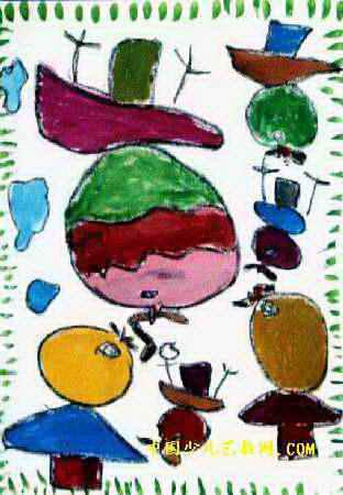 我的好妈妈儿童画4幅(第3张)