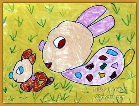 夏天 儿童画 图画 儿童绘画展示