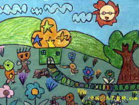 我的家园儿童画