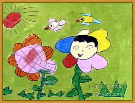春天來了兒童畫12幅(第11張)