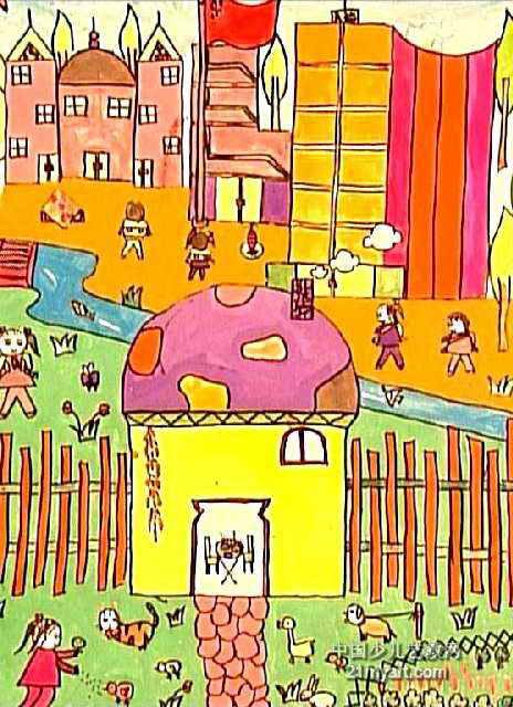 我的家乡儿童画7幅 第3张