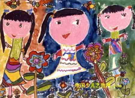 飞天火箭儿童画 时髦的妈妈儿童画
