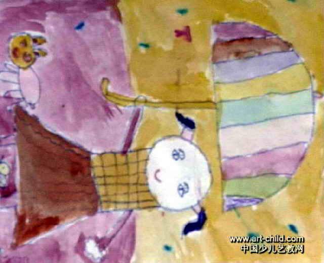 下雨天儿童画3幅(第2张)