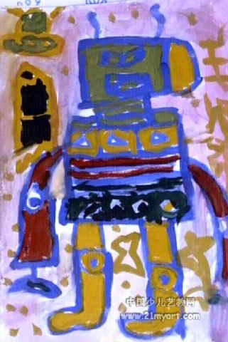 机器人儿童画10幅 第6张