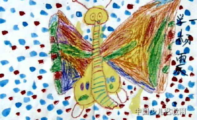 花蝴蝶儿童画4幅